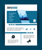 City brochure infographic vector illustration graphic design business corporate