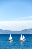 Luxury yachts at Sailing regatta in Santa Barbara - 193851858