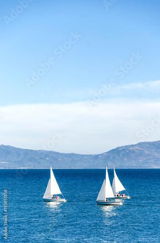 Aluminium Zeilen Luxury yachts at Sailing regatta in Santa Barbara