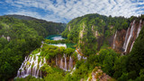 panorama of Plitvice waterfalls