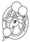 Pony coloring book vector - 193864218