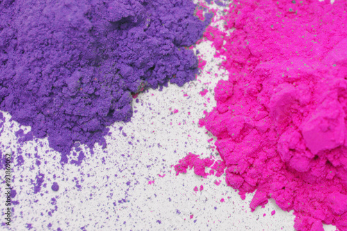 Holi colorful background pink green blue abstract color spatter - 193869052