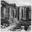 victorian engraving of the Propylaea, Athens
