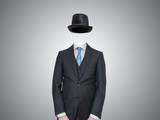 Anonymous Or Invisible Man In Suit Wall Sticker