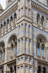 Natural History Museum with ornate terracotta facade,  Victorian architecture, London, United Kingdom
