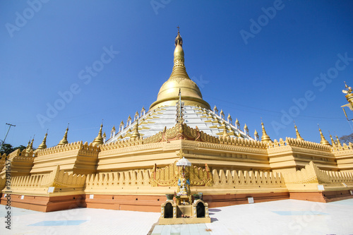 Temple and Pagoda in Bago, Myanmar Poster