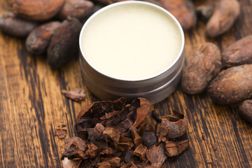 Natural cocoa butter. Healthy, beans.
