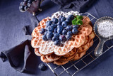 waffles with blueberries - 193920411