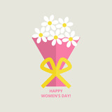 Womens day greeting card