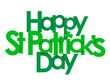 HAPPY ST PATRICK'S DAY Banner with shamrock