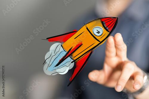 Fototapeta rocket