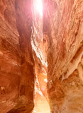 Siq canyon, which goes to the ancient city Petra - 193943049