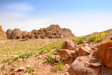 Cave dwellings in Petra - 193943294