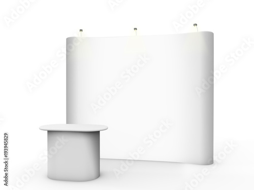 white pop up stand