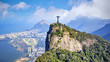 Quadro Aerial view of Rio de Janeiro city skyline in Brazil