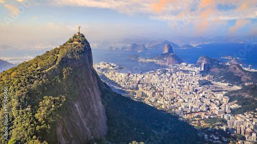 Aluminium Rio de Janeiro Aerial view of Rio de Janeiro city skyline in Brazil