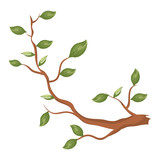 tree branch plant icon vector illustration design - 193954408