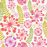 Spring seamless vector pattern in retro colors.