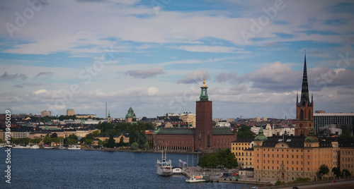 In de dag Stockholm Panorama aerial view to Stokholm from Katarina viewpoint at Stokholm , Sweden