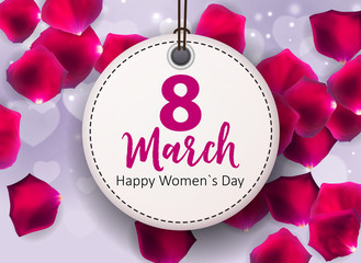 Women's Day Greeting Card 8 March Vector Illustration