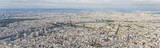 Aerial panoramic view of Paris city center