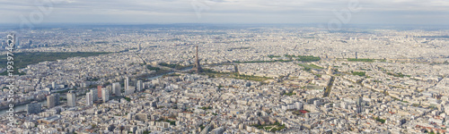 Aerial panoramic view of Paris city center - 193974622