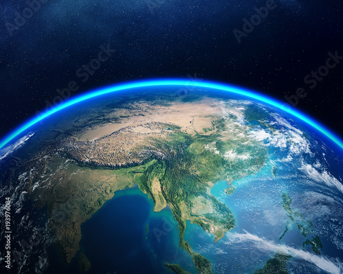 Earth from space Asia