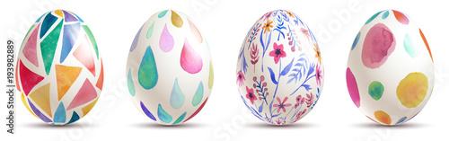 Fototapeta watercolor easter eggs