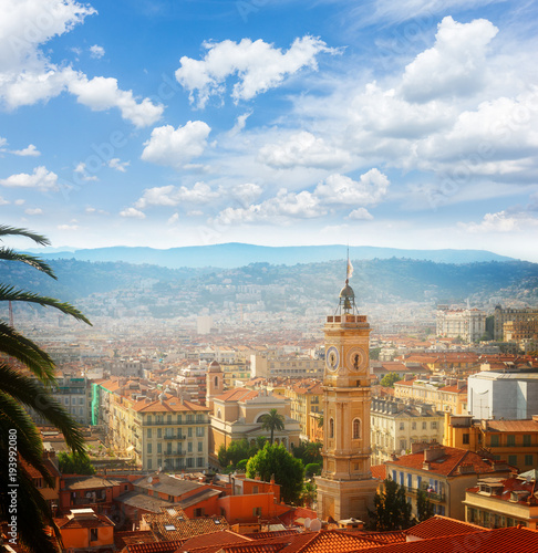 Fotobehang Nice cityscape of Nice, France