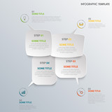 Info graphic with design speaking bubbles template - 194001851