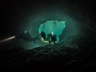 Gozo unter Wasser, Tauchen, Höhle