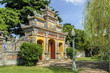 door in the imperial Hue citadel, patrimony of the humanity, in Vietnam.