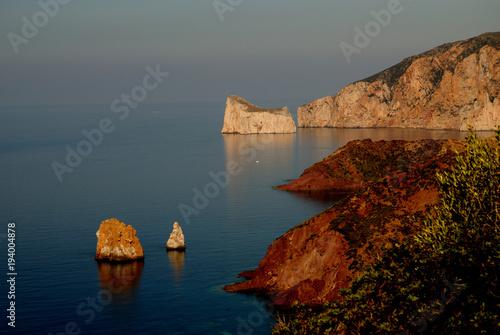 Papiers peints Gris La costa di Nebida e Masua