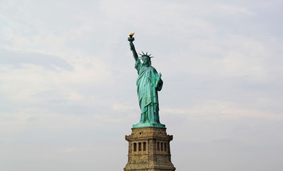 Nice view on isolated Statue of Liberty New York
