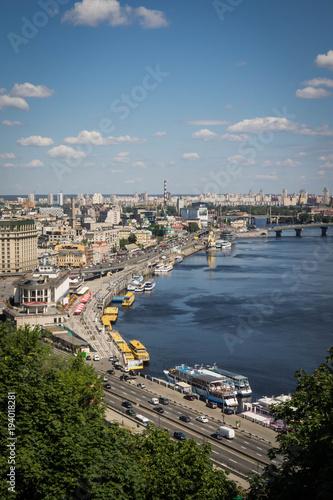 Fotobehang Kiev Podil View