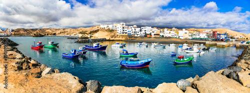 Plexiglas Freesurf Traditional fishing village in Tenerife island - picturesque San Miguel de Tajao. Canarian islands of Spain