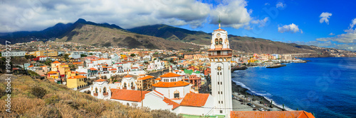 Plexiglas Freesurf Tenerife - view of Candelaria town with famous basilica, Canary islands