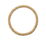Circle rope frame, including clipping path - 194025487