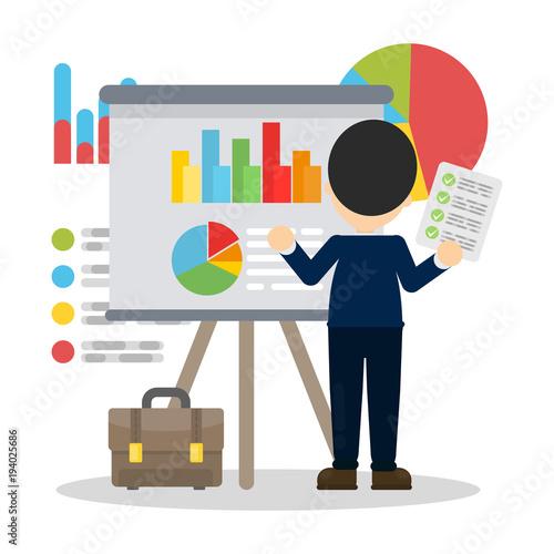 Business analysis illustration.