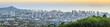 View to Honolulu from Tantalus Lookout at sunset, Oahu, Hawaii