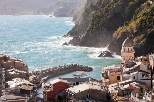 Fotobehang Liguria Vernazza, Cinque Terre, Italy