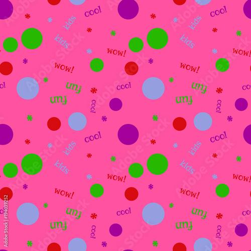 Fototapeta Kids bubble creative pattern. Digital design for print, fabric, fashion or presentation.
