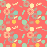 Kids spiral graphic creative pattern. Digital design for print, fabric, fashion or presentation.