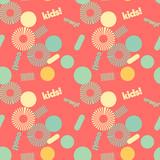 Kids spiral graphic creative pattern. Digital design for print, fabric, fashion or presentation.