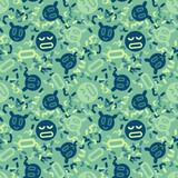 Digital Faces Creative Pattern Digital Design For Print Fabric Fashion Or Presentation Wall Sticker