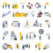 Flat design people concept icons isolated on white. Set of vector illustrations for business and finance, teamwork, project management.