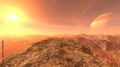 Foto op Canvas Oranje eclat 岩山
