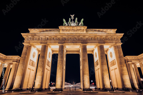 Keuken foto achterwand Berlijn brandenburg gate in berlin, germany, at night