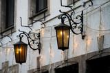 old street light. Street lamps