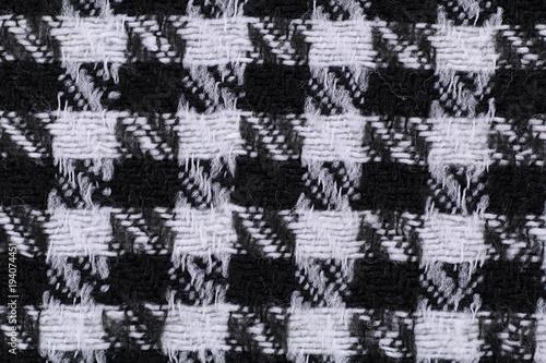 materiał tkany żakard biały czarny chusta macro - 194074451